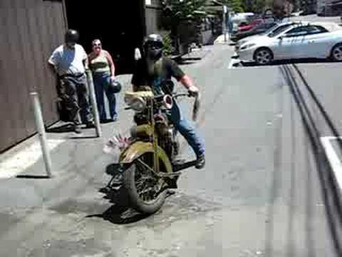 12ae04d0f Really old school biker - YouTube