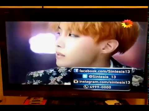 BTS - Blood Sweat & Tears in News program from Argentina (Kpop En Sintesis)