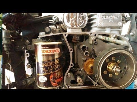 engine flush Royal Enfield detail video