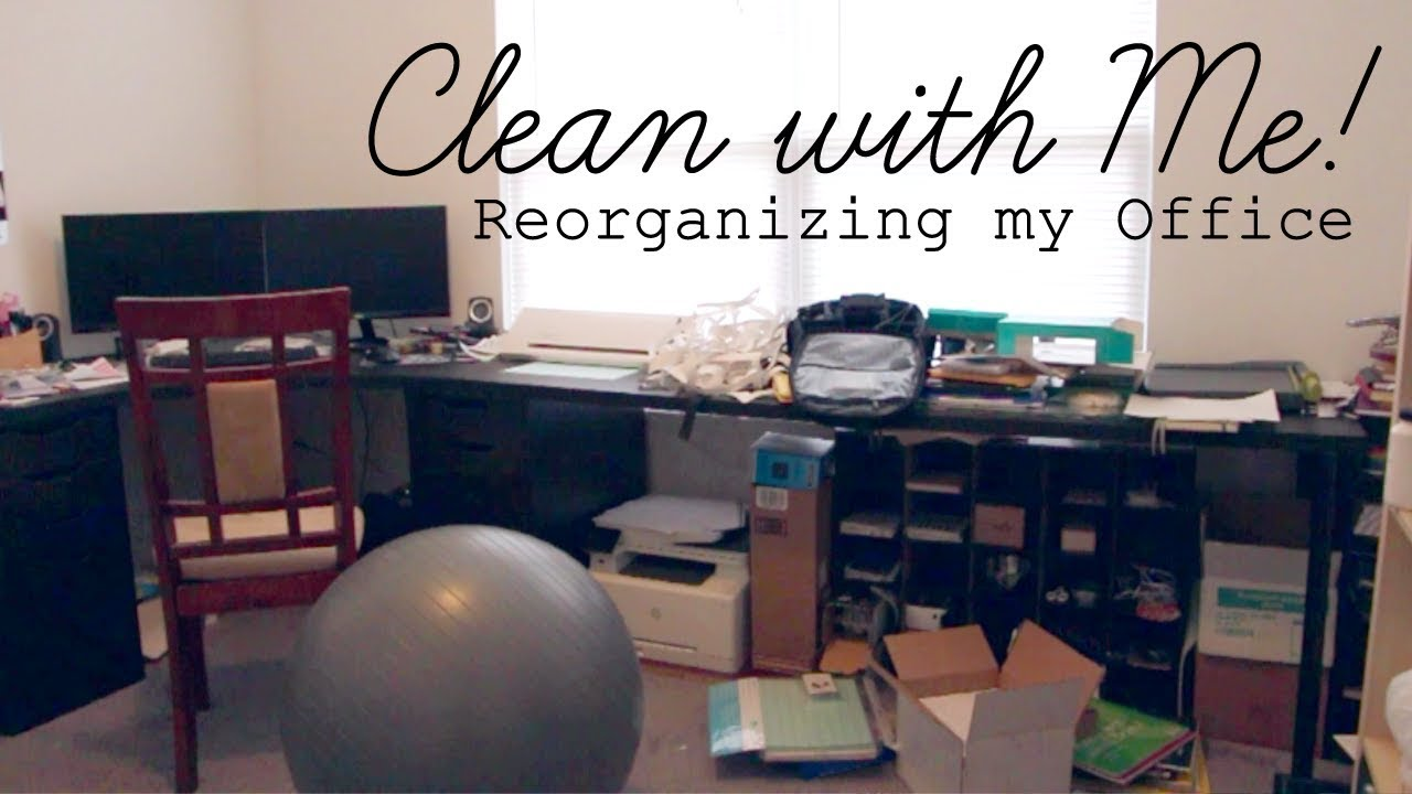 Clean With Me Organizing My Home Office Craft Room