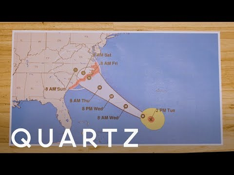 How to read a hurricane map to track a hurricane path