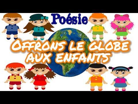 Poésie 🌍👫Offrons le globe aux enfants (Le globe) de Nazim Hikmet🌍👫