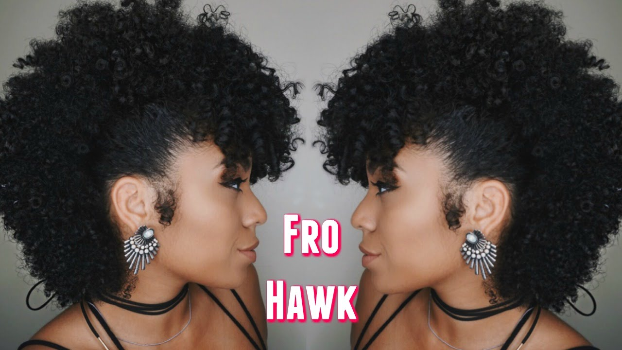 How To: FROHAWK on Natural Hair - YouTube