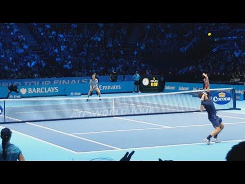 Federer vs Berdych [COURT LEVEL VIEW] - London 2015