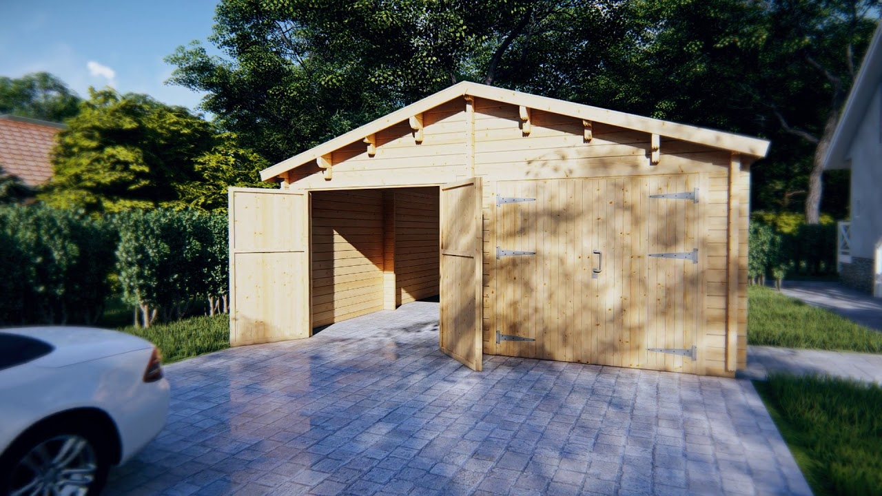 Wooden Double Garage E With Double Doors Youtube