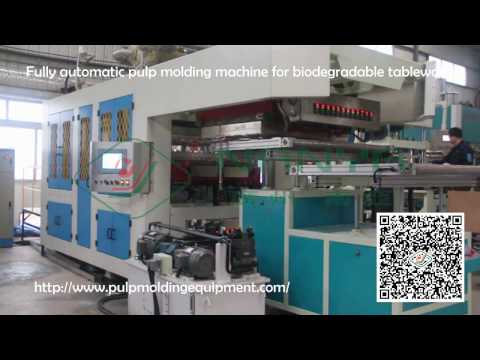 Disposable Sugarcane Pulp Tableware Thermoforming Machine