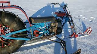 Снегоход с одним колесом .