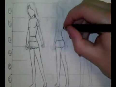 comment dessiner des proportions manga personnage fille tutoriel youtube. Black Bedroom Furniture Sets. Home Design Ideas
