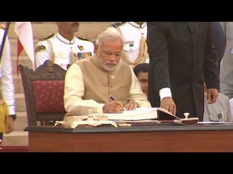 Narendra Modi takes sworn in as India's new prime minister
