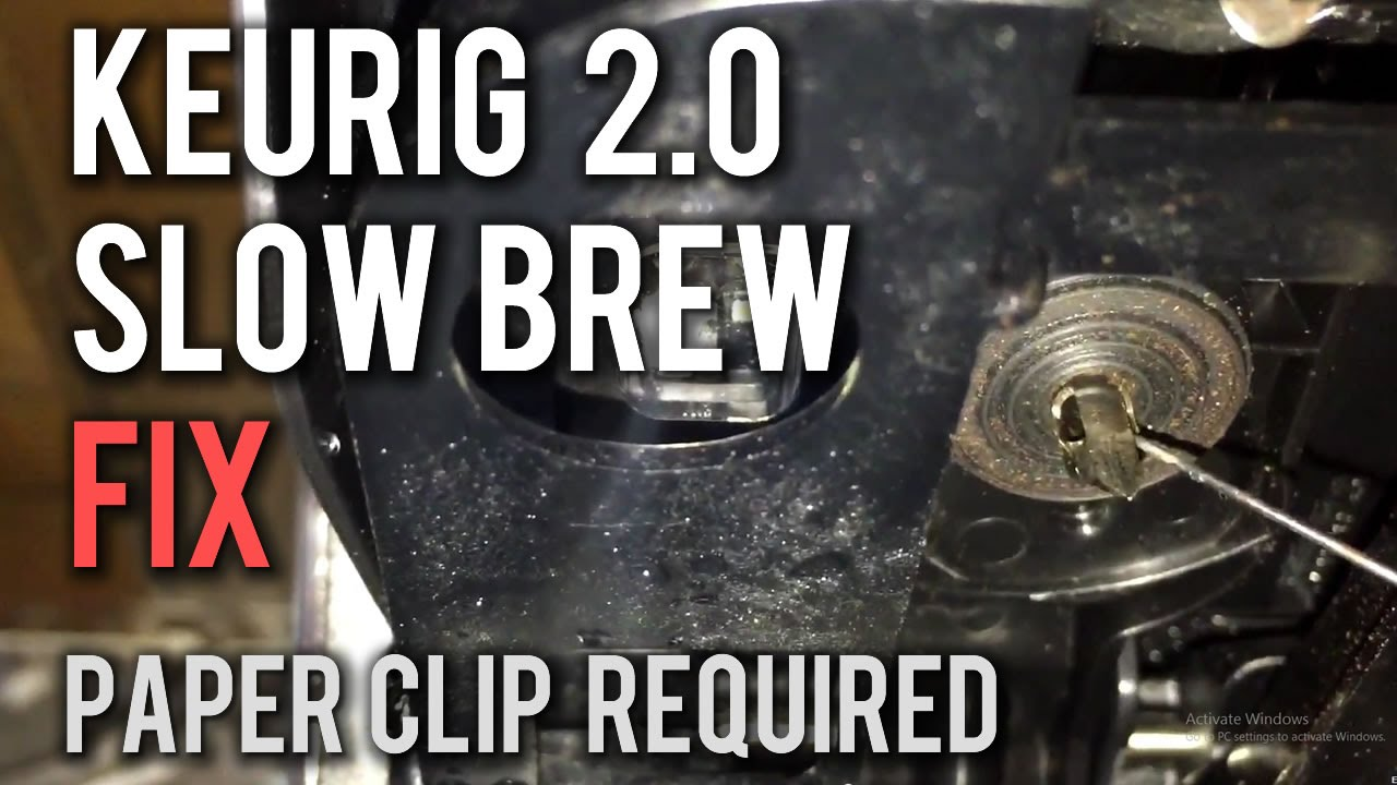 Keurig 2 0 Slow Or Not Brewing How To Fix Youtube