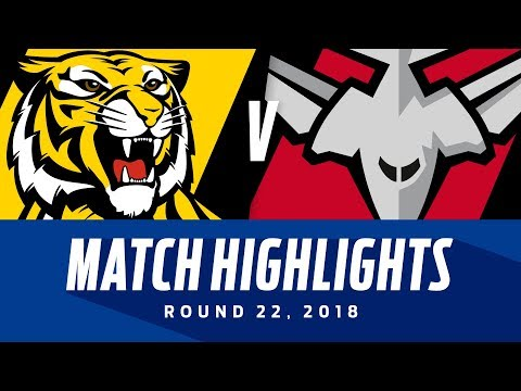 Richmond v Essendon Highlights | Round 22, 2018 | AFL
