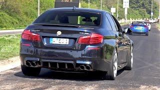 Supercars Leaving Car Meet LOUD! BMW M3, M5, 488, GT3, C63