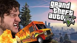 GTA 5 PC Online Funny Moments - STOP THAT TACO TRUCK! (Custom Games) -SkyVS Gaming