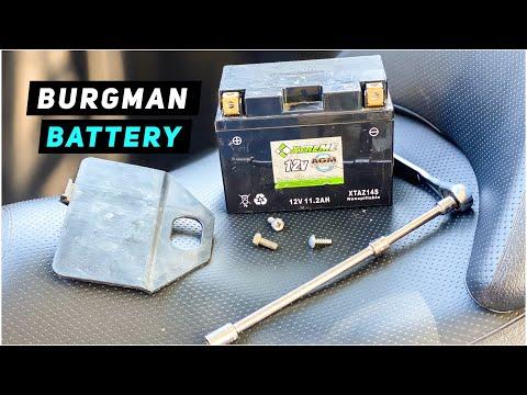 Suzuki Burgman 400 Battery Replacement 2007-2016 | Mitch's Scooter Stuff