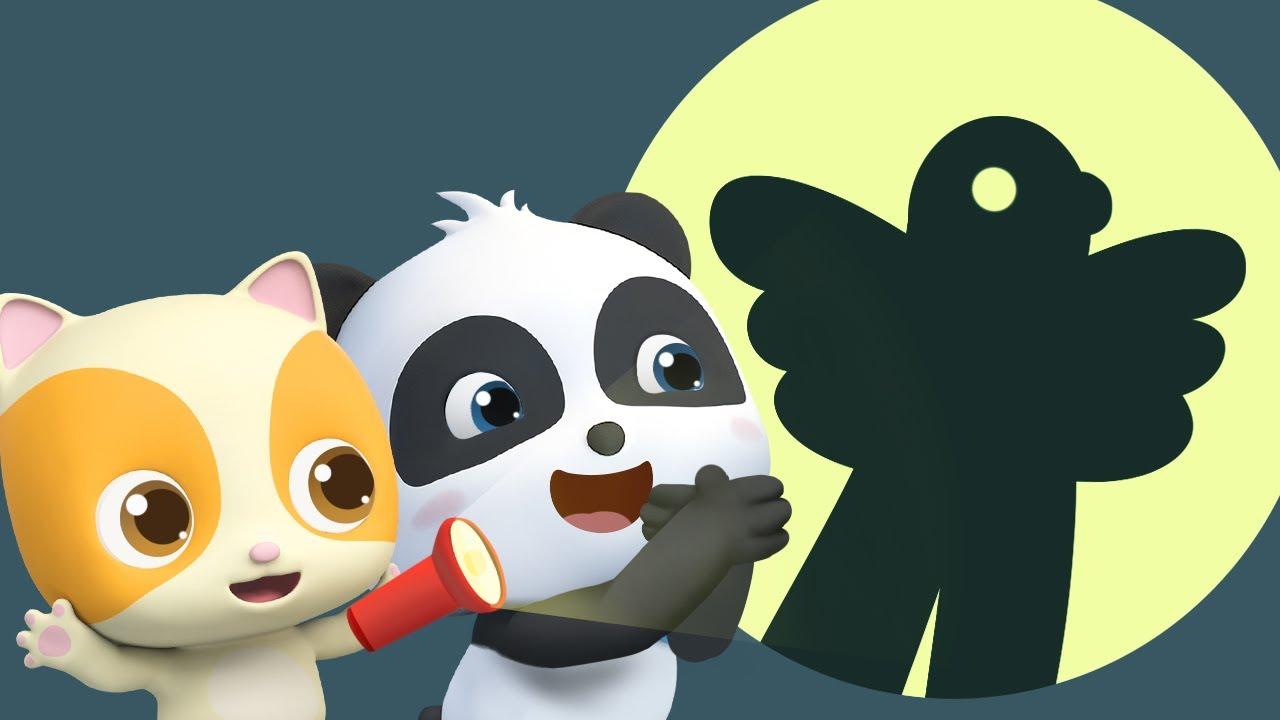 Monsters in the Dark | Shadow Puppets Song for Kids | Nursery Rhymes | Kids Songs | BabyBus