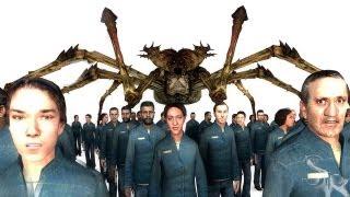 Citizens vs Spider Queen | Dark Messiah SNPC Battle in GMod