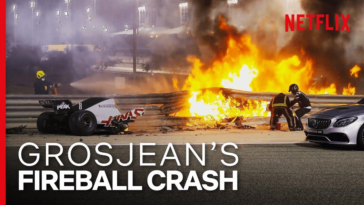 Download Grosjean's Insane Fireball Crash   Formula 1: Drive To Survive S3