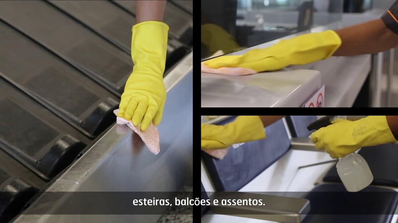 Prevenção ao coronavírus no Aeroporto Internacional de Belo Horizonte