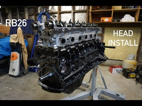 rb26 cylinder head install engines going back together. Black Bedroom Furniture Sets. Home Design Ideas