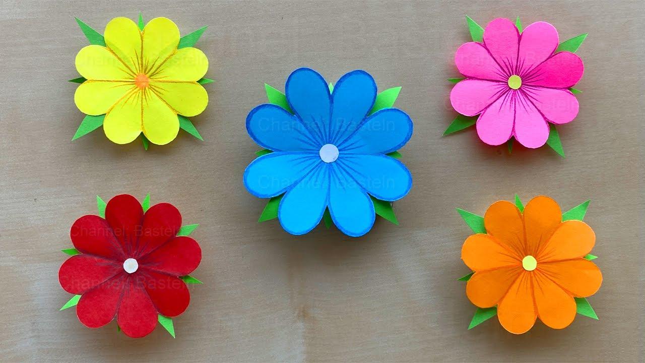 Blumen Basteln Mit Papier Einfache Papierblumen
