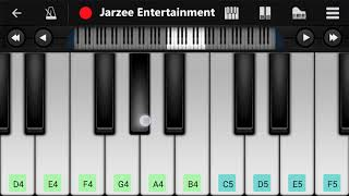 Tere Naam Humne Kiya Hai - Easy Mobile Piano Tutorial | Jarzee Entertainment