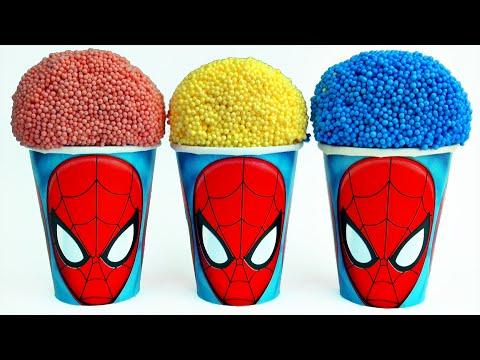 Spiderman PlayFoam Surprise Cups & Eggs Cars 2 Batman Spongebob Superman Toys Skittles Candy