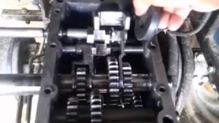 Роблю блокування ,розбирання КПП Китайського важкого мотоблока - мотрактора ( чать 1)
