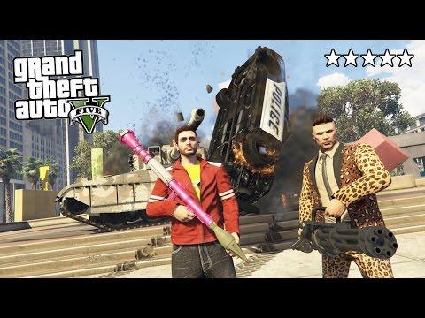 GTA 5 Online - ULTIMATE 5 STAR DESTRUCTION!! 5 Star POLICE Getaway in GTA Online! (GTA 5 Gameplay)