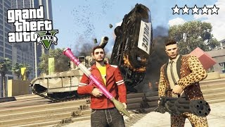 GTA 5 Online - ULTIMATE 5 STAR DESTRUCTION!! 5 Star POLICE Getaway in GTA Online! (GTA 5 Gameplay)