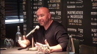 WOW! -DANA WHITE EXPLAINS HOW RACE ROW BETWEEN FLOYD MAYWEATHER & CONOR McGREGOR STARTED