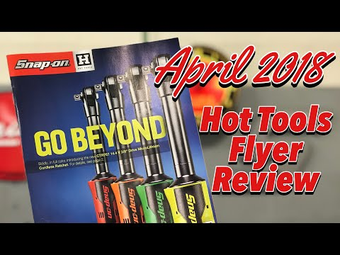 SNAP-ON April 2018 Hot Tools Flyer Review