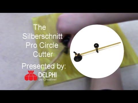 The Silberschnitt Pro Circle Cutter   Delphi Glass - YouTube