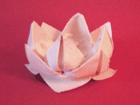 Papercraft Origami Lotus Instructions: www.Origami-Fun.com