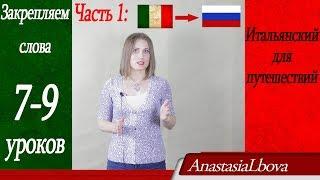 Итальянский для путешествий с нуля. Закрепляем слова 7-9 уроков. Отель. Часть 1