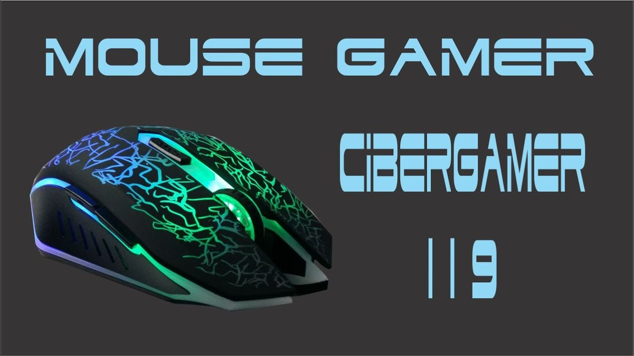 Mouse gamer led 7 colores usb 2400 dpi 6 botones scroll Cibergamer ...