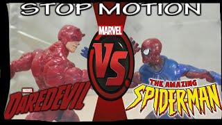 MARVEL Daredevil vs Spiderman [Stop Motion]