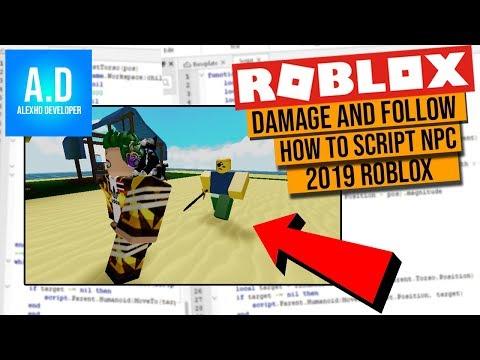 Roblox Script Npc How To Script Npc Walking Attack In Roblox Studio Youtube