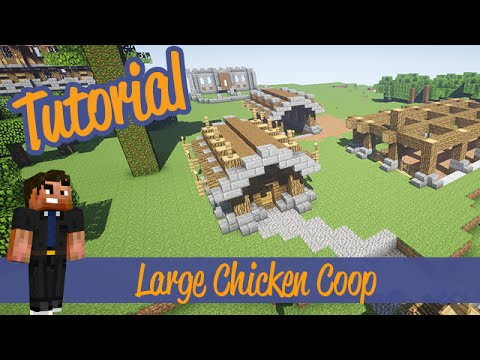 Minecraft Tutorial - Small Chicken coop and Farm Designs/ideas Xbox/Ps3/PC/PE
