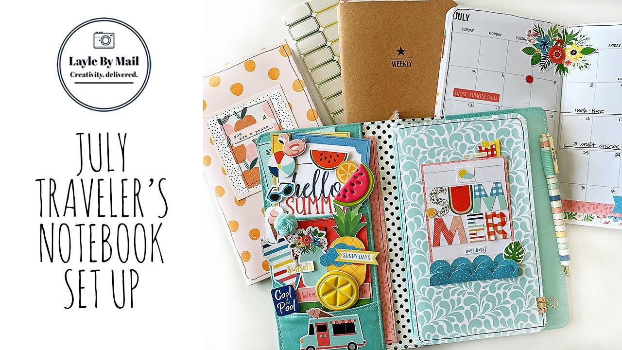 July Traveler's Notebook Setup