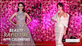 Beauty Rapid Fire with Bollywood Celebrities at Lux Golden Rose Awards 2018