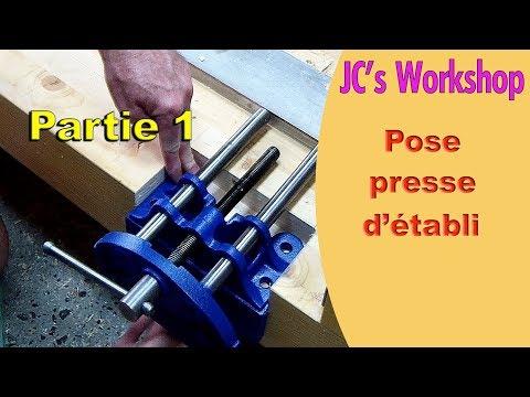 Comment installer une presse d'établi sous plateau, partie 1 - Travail du bois - #64