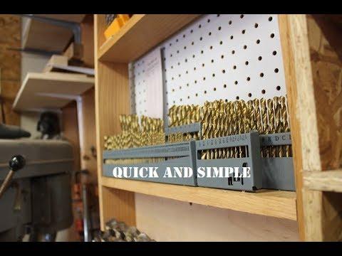 Simple Drill Bit Storage Youtube