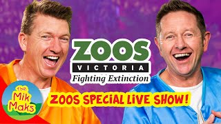 The Mik Maks and Zoos Victoria Live Stream | Videos for Kids | Zoo Animals