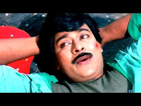 Kondaveeti Donga Scene - Raja And Nagini Lip Kiss Scene - Chiranjeevi, Vijayashanti, Radha Travel Video