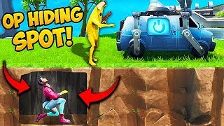 *NEW* SUPER OP HIDING SPOT!! - Fortnite Funny Fails and WTF Moments! #563