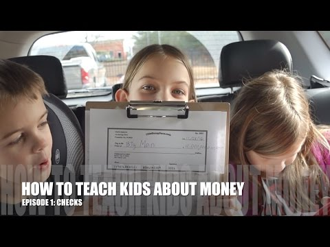 HOW TO TEACH KIDS ABOUT MONEY. EPISODE 1 - CHECKS