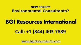 Environmental Consultants New Jersey - BGI Resources International, NJ