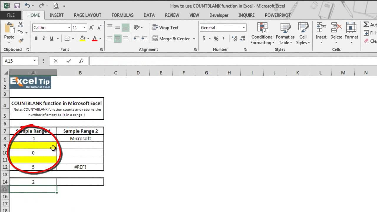How To Use COUNTBLANK Function In Excel