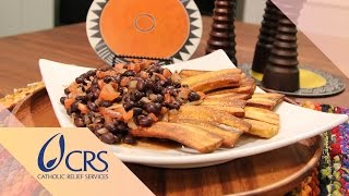 Fried Plantains With Beans From Democratic Republic Of Congo | Crs Rice Bowl's Global Kitchen
