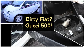 A dirty model.. Cleaning a Gucci Fiat 500